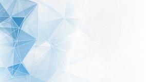 Abstracte blauwe witte geometrische Webachtergrond