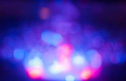 Abstracte blauwe, witte, roze bokehcirkels Stock Afbeeldingen
