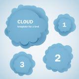 Abstracte blauwe wolken met cijfers Stock Foto