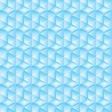 Abstracte blauwe zeshoek Royalty-vrije Stock Foto