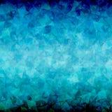 Abstracte Blauwe zwarte driehoeksachtergrond Royalty-vrije Stock Afbeelding