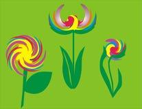 Abstracte bloem stock illustratie