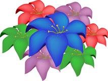 Abstracte bloem royalty-vrije illustratie