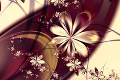 Abstracte Bloem Autumn Background Wallpaper Stock Foto's