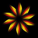 Abstracte bloem in Duitse vlagkleuren Stock Afbeeldingen