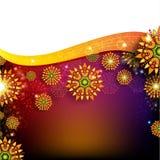 Abstracte bloem glanzende achtergrond Royalty-vrije Stock Fotografie