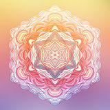 Abstracte Bloem Mandala Decoratief element voor Stock Foto