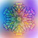 Abstracte Bloem Mandala Decoratief element voor Royalty-vrije Stock Afbeeldingen
