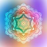 Abstracte Bloem Mandala Decoratief element voor Royalty-vrije Stock Fotografie