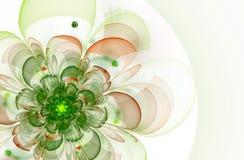 Abstracte bloem op een lichte achtergrond Royalty-vrije Stock Foto's