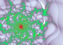 Abstracte bloem op een lichte achtergrond Royalty-vrije Stock Foto