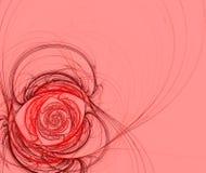 Abstracte bloem op een roze achtergrond Stock Afbeeldingen