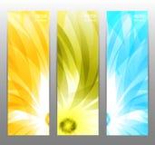 Abstracte Bloem vectorachtergrond/brochuremalplaatje/banner Royalty-vrije Stock Foto's