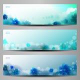 Abstracte Bloem Vectorachtergrond/Brochuremalplaatje/Banner. Royalty-vrije Stock Foto's