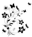 Abstracte bloemachtergrond Stock Foto's