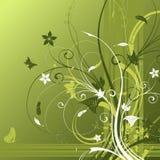 Abstracte bloemachtergrond Stock Afbeelding