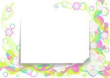 Abstracte bloemachtergrond Stock Foto