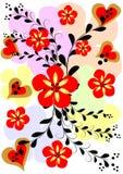 Abstracte bloemachtergrond Stock Illustratie