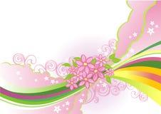 Abstracte bloemachtergrond/vector Stock Fotografie