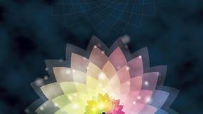 Abstracte bloemachtergrond of waterlily Stock Afbeelding