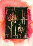 Abstracte Bloemen Stock Foto's