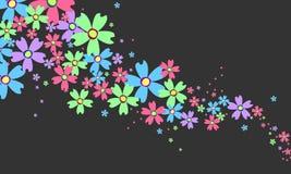 Abstracte bloemen Stock Foto