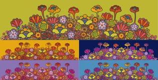 Abstracte bloemen royalty-vrije illustratie