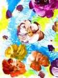 Abstracte bloemen, creatieve abstracte hand geschilderde achtergrond vector illustratie