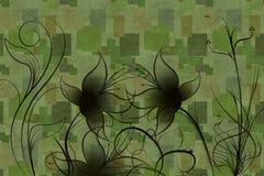 Abstracte bloemen en installaties Stock Foto