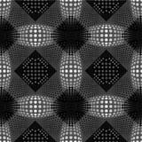 Abstracte bloemen geometrische vector naadloos als achtergrond Stock Afbeelding