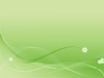 Abstracte bloemen groene achtergrond royalty-vrije illustratie