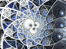Abstracte bloemen het glassamenstelling van de mozaïekvlek in blauwe toon stock illustratie
