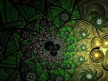 Abstracte bloemen het glassamenstelling van de mozaïekvlek in groen stock illustratie