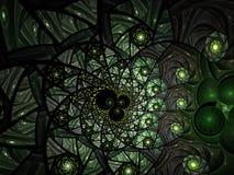 Abstracte bloemen het glassamenstelling van de mozaïekvlek in groen royalty-vrije illustratie