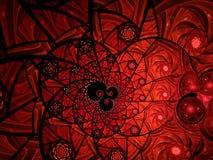 Abstracte bloemen het glassamenstelling van de mozaïekvlek in rood stock illustratie