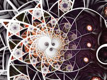 Abstracte bloemen het glassamenstelling van de moza?ekvlek in purpere en grijze toon vector illustratie