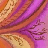 Abstracte Bloemen Lage Polyachtergrond Royalty-vrije Stock Afbeeldingen