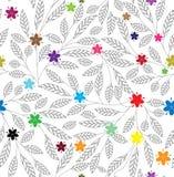 Abstracte bloemen naadloze achtergrond vector illustratie