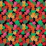 Abstracte bloemen naadloze achtergrond met Oostindische kers en bladeren Royalty-vrije Stock Fotografie
