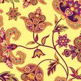 Abstracte bloemen naadloze uitstekende oosterse achtergrond Stock Foto