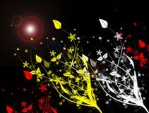 Abstracte bloemen, abstracte patroonbehang en achtergrond stock illustratie