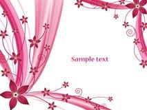 Abstracte bloemen vectorachtergrond Stock Fotografie