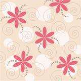 Abstracte bloemen vectorachtergrond Stock Afbeelding