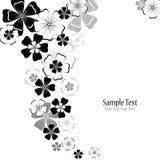 Abstracte bloemen vectorachtergrond Royalty-vrije Stock Afbeelding