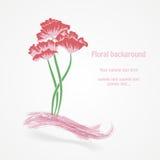 Abstracte bloemen vectorillustratie Stock Afbeelding