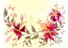 Abstracte bloemen vectorrug Stock Foto's