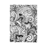 Abstracte bloemen zwarte, vectorillustratie Stock Foto's