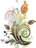Abstracte bloemenachtergrond. stock illustratie