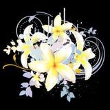 Abstracte bloemenachtergrond Stock Foto