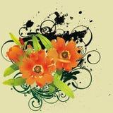 Abstracte bloemenachtergrond Vector Illustratie